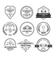 Collection of Oktoberfest hand drawn logo vector image vector image
