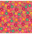 Colorful flowers seamless pattern background vector image