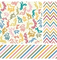 Colorful zigzag seamless set vector image vector image