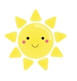 Cute kawaii sun character for vector image