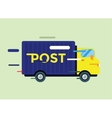 Delivery truck service van silhouette vector image