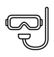 diving mask icon on white background vector image vector image