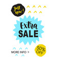 extra sale mobile banner template vector image vector image