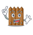 finger wooden fence pattern for design cartoon vector image