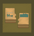 flat shading style icon micro sd vector image