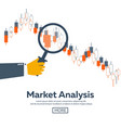 forex market trading forex club online trading vector image