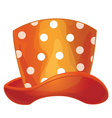 funny orange hat vector image