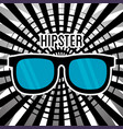 glasses style hipster poster vector image vector image