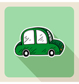 Hand drawn green car rental concept vector image