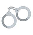 handcuff icon police prison vector image vector image