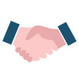 handshake sign business collaboration vector image