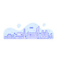 hanoi skyline vietnam city buildings linear vector image vector image
