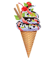 Ice cream with nuts fruit chocolate vector image vector image