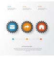 interface icons set collection of forward letter vector image vector image