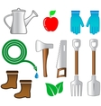 isolated set tools for gardening vector image vector image