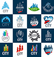 large set of logos city vector image