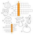 learn english with an autumn word game for kids vector image vector image