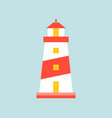 lighthouse or tower icon simple flat design vector image
