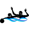 logo water polo in black and white vector image vector image