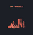 made with icons san francisco vector image vector image