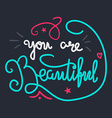 Motivation and Beauty Lettering Concept vector image vector image