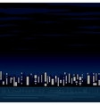 Night View of the Modern City Image vector image vector image