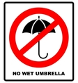 No Umbrella with water drops Rain protection vector image vector image