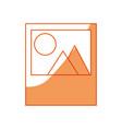 picture landscape symbol vector image vector image