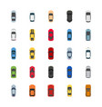 popular color cars flat icons vector image