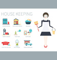 Pretty Housekeeper vector image