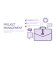 project management business idea development vector image vector image