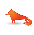 red fox vector image