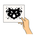 rorschach test pop art vector image vector image