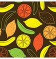 Seamless pattern of bananas and lemons vector image vector image
