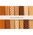seamless patterns autumn polka dots set vector image vector image
