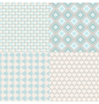 set of four seamless patterns Repeating vector image vector image