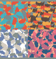 set of usa shape camo seamless pattern colorful vector image vector image