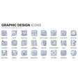 simple set web design line icons for website vector image