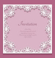 square frame with cutout lace pattern vector image vector image