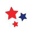 stars icon design template isolated vector image vector image