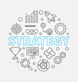 strategy round outline vector image