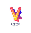 the letter v latin alphabet display vector image