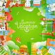 Travel concept Summer vacation vector image vector image
