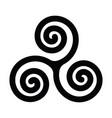 triskelion or triskele symbol triple spiral vector image vector image