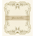 vintage label with rays vector image vector image