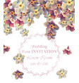 vintage wedding frame floral beauty floral vector image
