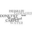water damaged carpet what can be done text word vector image vector image