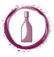 wine bottle inside the bubble vector image vector image