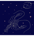 Zodiac sign Cancer on the starry sky vector image vector image