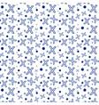 seamless x pattern and circles vector image